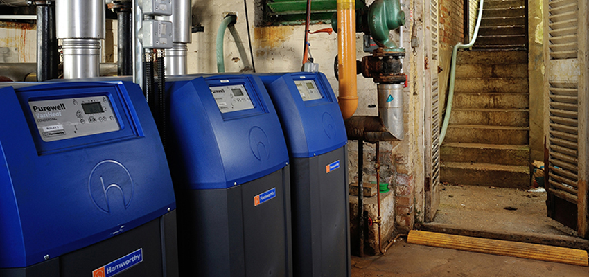 Purewell VariHeat boilers installed at the Carlton Hotel in Bournemouth.