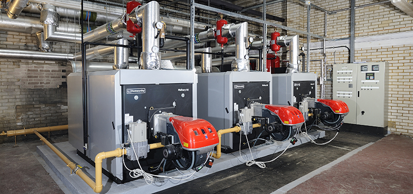 Melbury HE pressure jet boilers installed for college heating