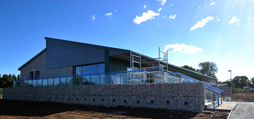 The new build sports complex of Nottingham University.