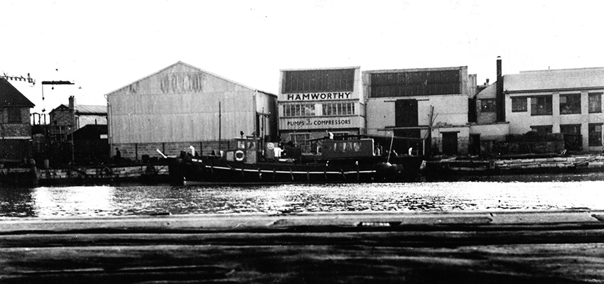 Hamworthy Engineering started out on Poole Quay