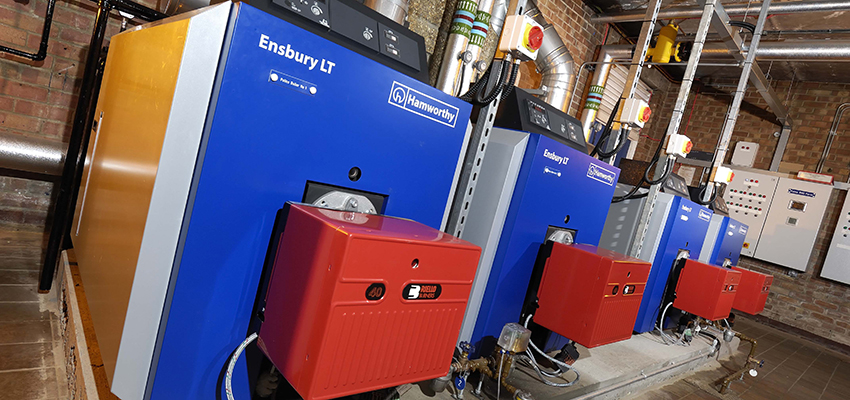 Ensbury LT boilers installed at Christchurch Police Station.