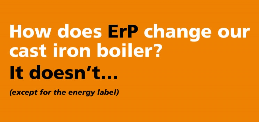 What makes our cast iron boiler ErP compliant?