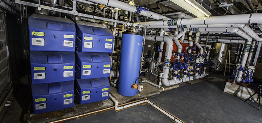 Wessex ModuMax mk2 boilers and Powerstock calorifier installed at Cheltenham Racecourse.