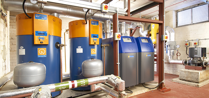 Dorchester DR-FC water heaters and Purewell VariHeat boilers installed at Duppas Junior School.