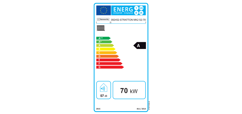 An ErP Energy Label.