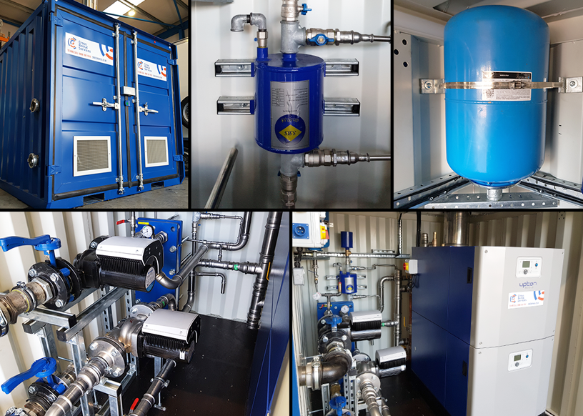 Packaged plant room with a small footprint using modular boilers
