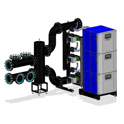 Improved pipework kits with low loss header for Upton modular boilers