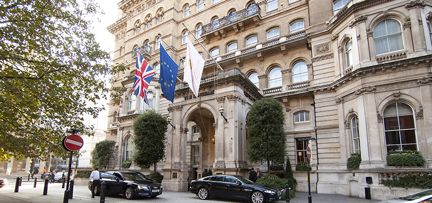 The Langham Hotel in London.