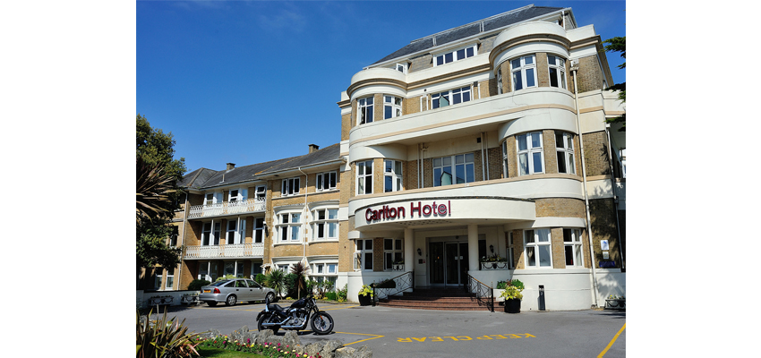 The Carlton Hotel in Bournemouth.