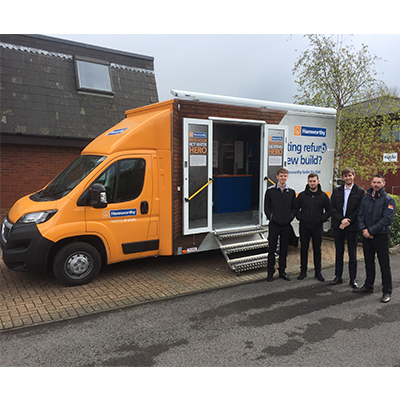 The Hamworthy roadshow van has visited plenty of customers in the South West.