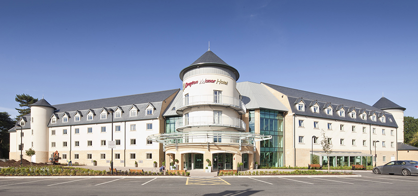 New boilers as well as direct and indirect fired water heaters now cover Drayton Manor Hotel's heating and hot water requirements.