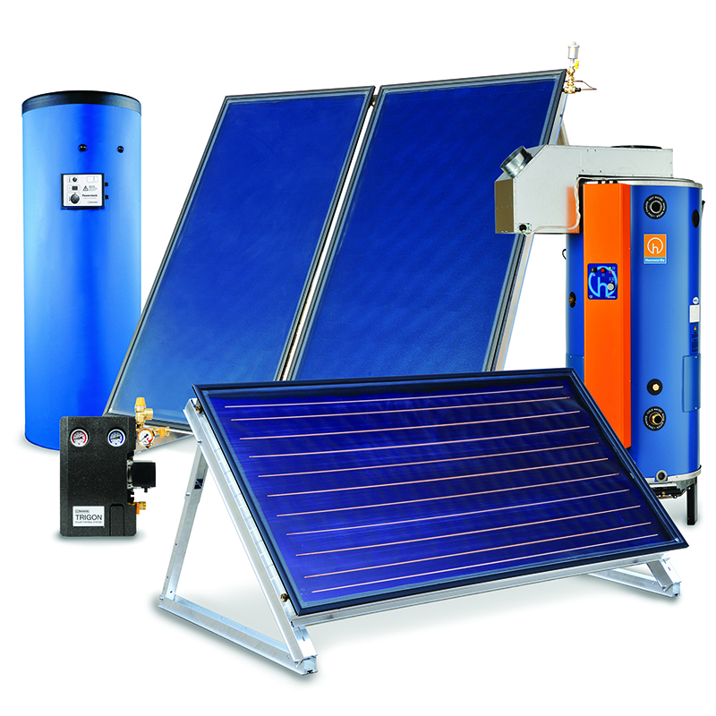 Trigon solar thermal system