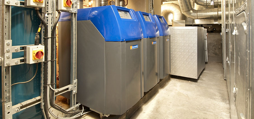 Purewell VariHeat boilers installed at the Royal Institution of Great Britain.