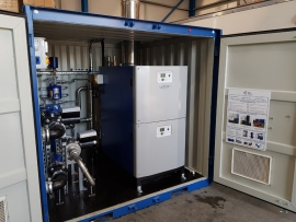 Upton modular boiler in a packaged plant room