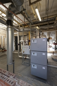 The Wessex ModuMax mk3 boiler sits on half the space of the old heating plant.