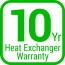 Warranty 10 heat exchanger product item